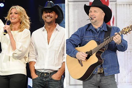Faith Hill with Tim McGraw and Garth Brooks