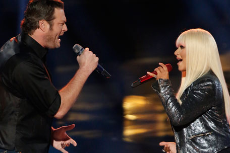 Blake Shelton Christina Aguilera duet The Voice