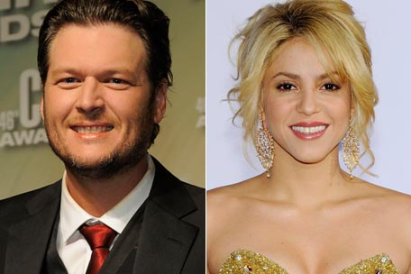 shakira blake shelton the voice