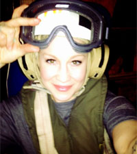 Kellie Pickler USO Tour
