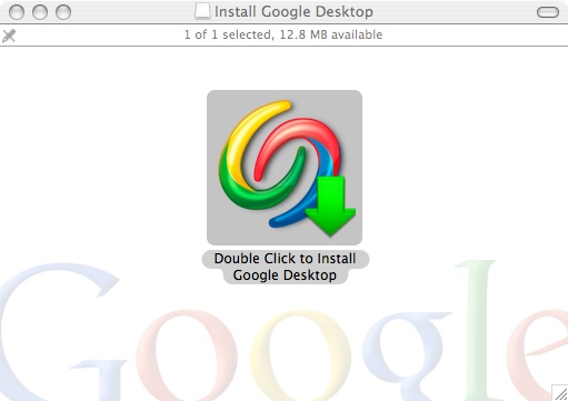 The Google Desktop installer
