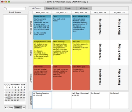 Planbook lesson planning for teachers mac style for Planbook login