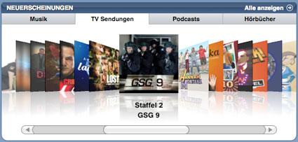 German itunes users just got a payload of tv sendungen transmission