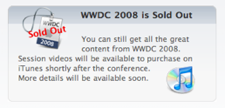 WWDC is Sold Out, baby!