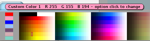The craptastic Discus for Dymo text color picker