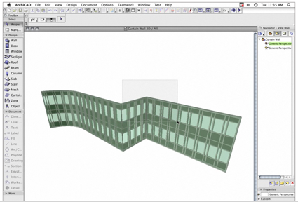ArchiCAD 12 Curtain Wall Tool