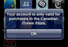 Canadian App Store error