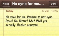 Why can't iPhone notes just sync with something?