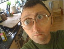Giles Turnbull with a Melted Face. Suits him.
