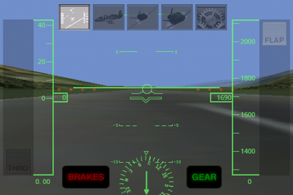 X-Plane for iPhone / iPod touch -- Heads-Up Display