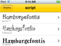 FontShuffle: Font List