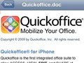 A well formatted Quickoffice document