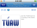 TUAW Talkcast page