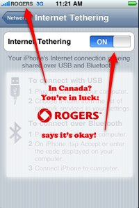 Rogers tethering