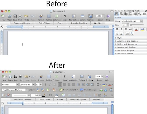 making microsoft office on the mac look more pc like. Black Bedroom Furniture Sets. Home Design Ideas