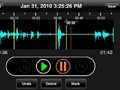 Marking the sound file in the iPodcaStudio editor