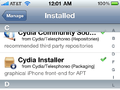Cydia installed packages