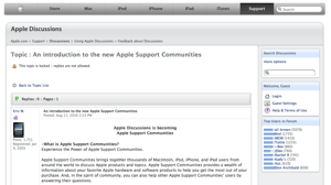 apple discussion board