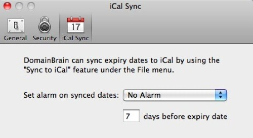 iCal reminders