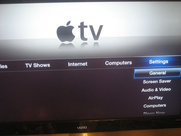 apple tv settings menu