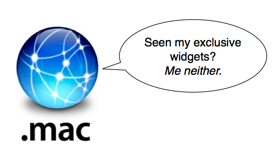 dot mac exclusive widgets
