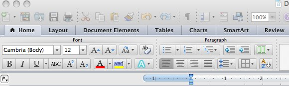 microsoft word ribbon and toolbars