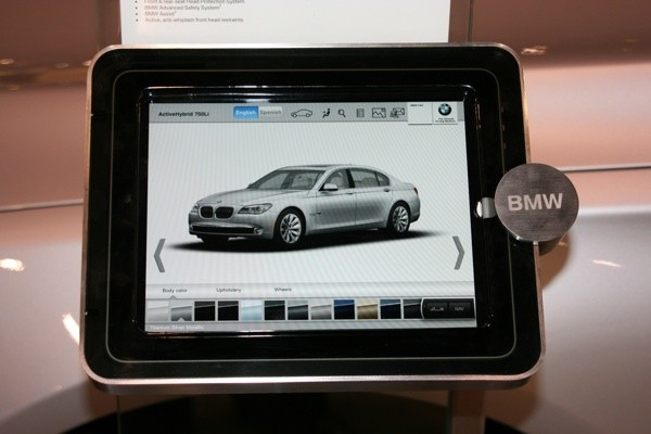 bmw ipad spec panel