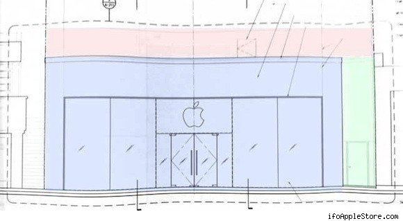 Plans for Apple's Berkeley store - construction now temporarily on hold