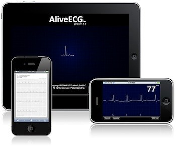AliveECG EKG ECG software for iOS on iPhone, iPad