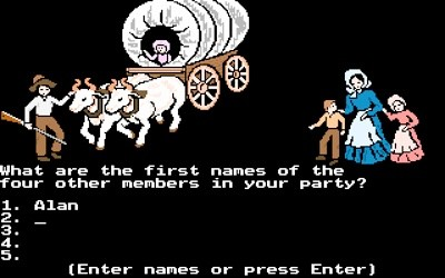 Apple II game Oregon Trail is turning 40 this year