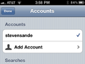 Adding accounts, settings, et al.