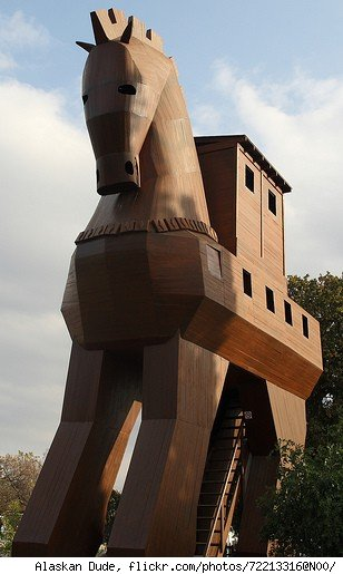Trojan horse.  Photo by Alaskan Dude, http://www.flickr.com/photos/72213316@N00/