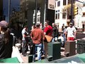 The line at the Austin SXSW Temporary Apple Store