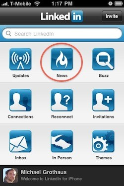 linkedintoday LinkedIn lets you follow social news with updated iPhone app