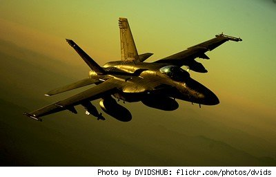 F/A-18 Hornet (Navy, not Marines, but very pretty photo)