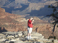 Person at Grand Canyon