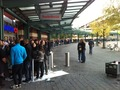 A really long line. Looks like international sales will be brisk.