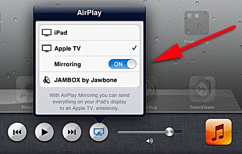 how to mirror ipad to apple tv