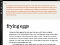 Individual chapter on preparing eggs that shows the background information