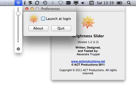 Brightness Slider for Mac