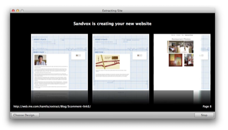 EMBARGO DNP Sandvox adds iWeb migration assistant scrape your site in