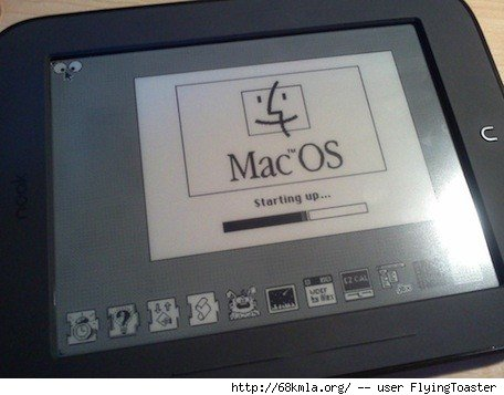 Mac classic OS emulator on Nook Simple Touch