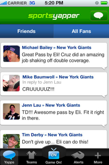 SportsYapper for iPhone offers conversation for sports fans