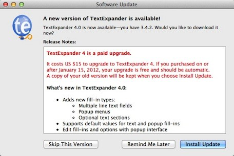 Sandboxing keeps TextExpander 4 out of the Mac App Store