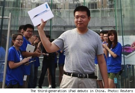 New iPad makes an orderly debut in China