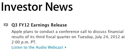 Apple Q3 earnings call on July 24  will Mountain Lion follow on July 25