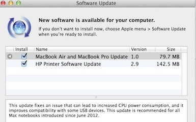 Latest MacBook Pro & Air models get software update