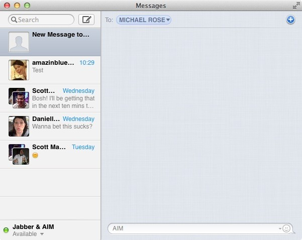 Three protocols at once -- iMessage, GTalk, AIM