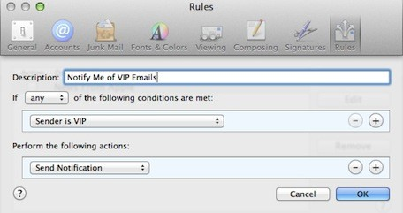 Mountain Lion 101 Mail VIPs