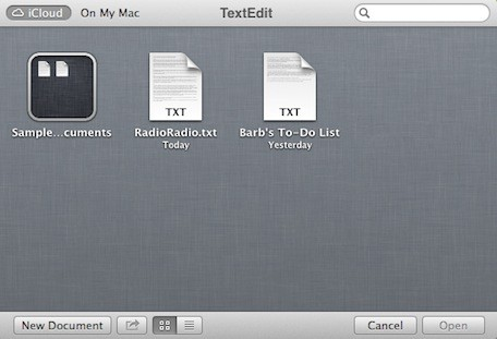 Mountain Lion 101 The iCloud Document Library